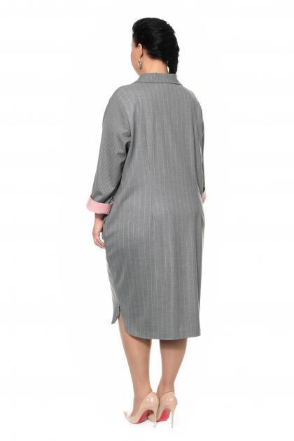 Артикул 307702 - платье большого размера - вид сзади
