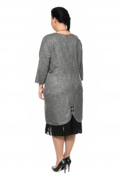 Артикул 302018 - платье большого размера - вид сзади