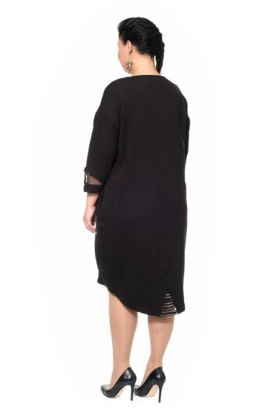 Артикул 307308 - платье большого размера - вид сзади