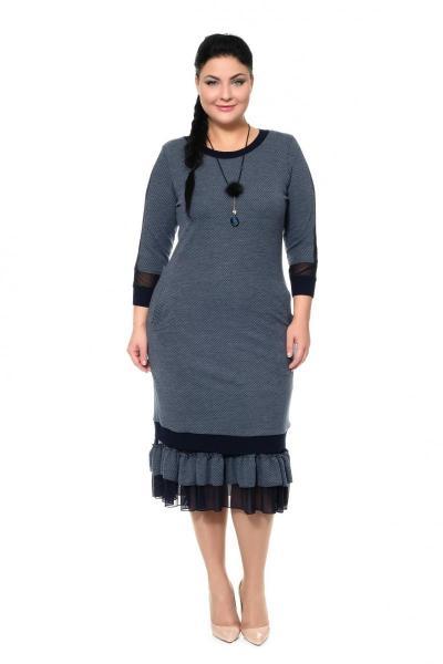 Артикул 335411 - платье с сорочкой большого размера
