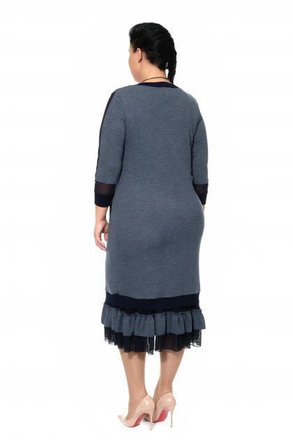 Артикул 335411 - платье с сорочкой большого размера - вид сзади