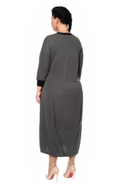 Артикул 335413 - платье большого размера - вид сзади