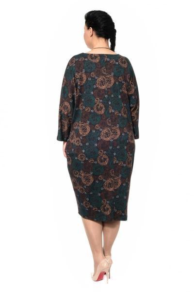 Артикул 307260 - платье большого размера - вид сзади