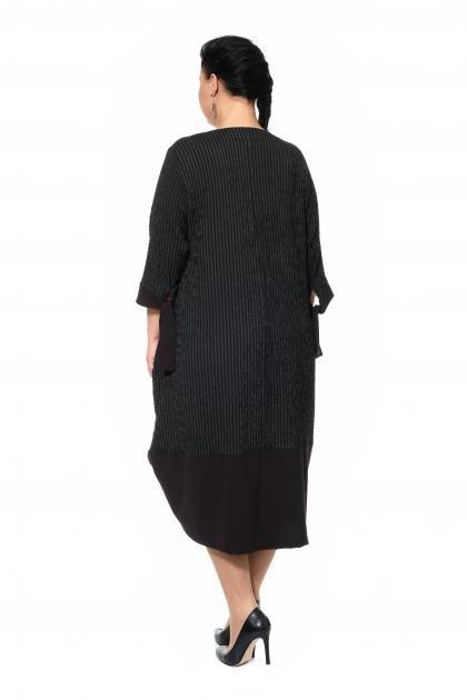 Артикул 300591 - платье большого размера - вид сзади