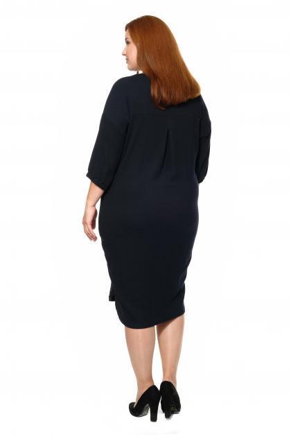 Артикул 335415 - платье большого размера - вид сзади