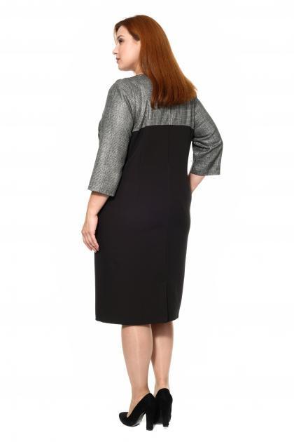 Артикул 304033 - платье большого размера - вид сзади
