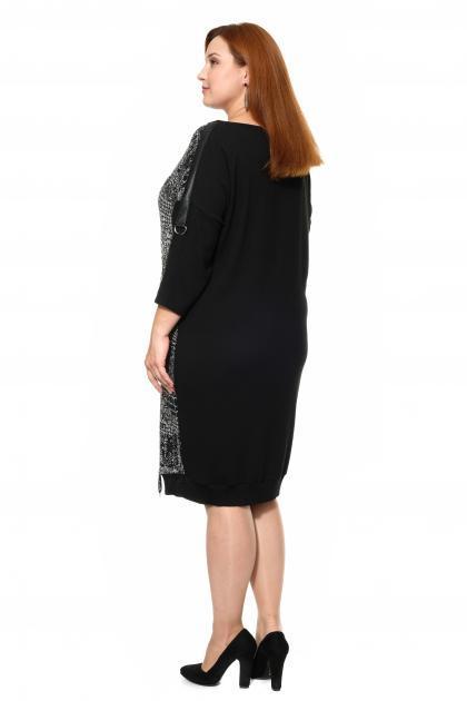Артикул 335418 - платье большого размера - вид сзади