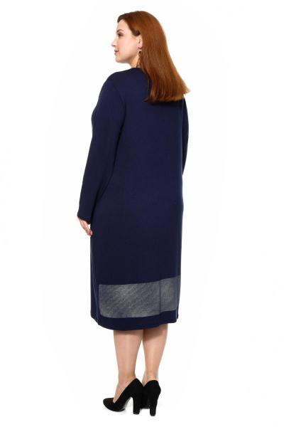Артикул 309621 - платье большого размера - вид сзади