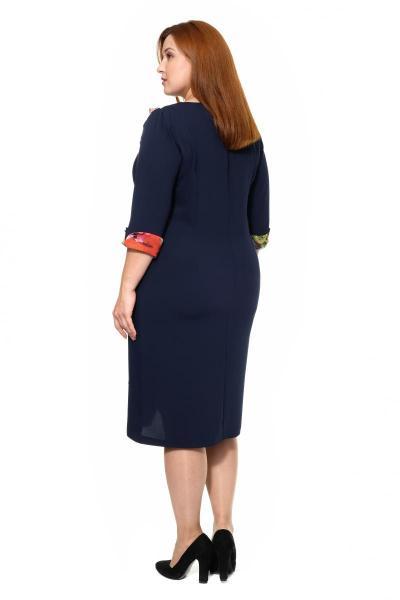 Артикул 307007-2 - платье большого размера - вид сзади