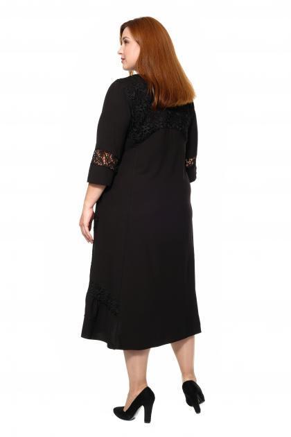 Артикул 307029 - платье большого размера - вид сзади