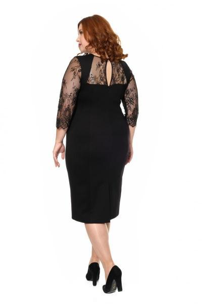 Артикул 17348 - платье большого размера - вид сзади