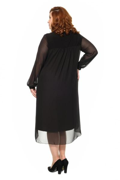 Артикул 16387 - платье большого размера - вид сзади