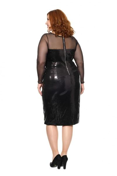 Артикул 16345 - платье большого размера - вид сзади