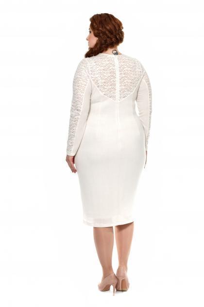 Артикул 17349 - платье большого размера - вид сзади