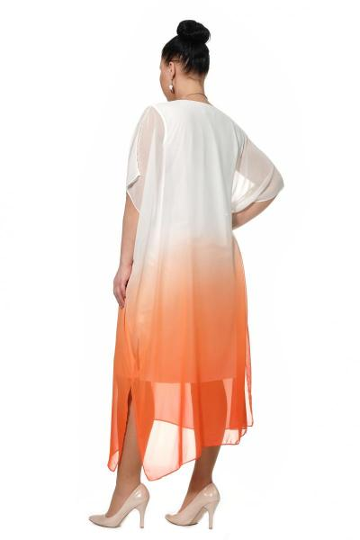 Артикул 310041 - платье пляжное большого размера - вид сзади