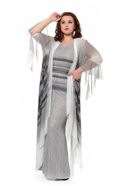 Артикул 906040 - платье с кардиганом большого размера