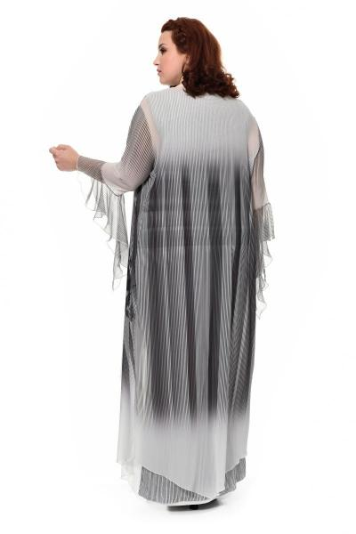 Артикул 906040 - платье с кардиганом большого размера - вид сзади