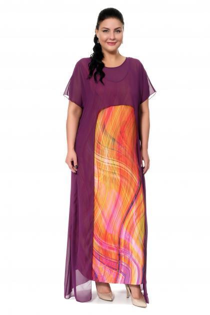 Арт. 17332 - Платье с накидкой