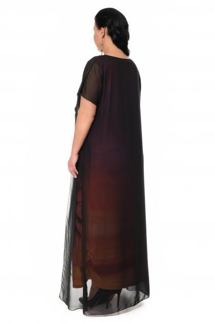 Артикул 17332 - платье с накидкой большого размера - вид сзади