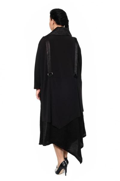 Артикул 430109 - платье с сорочкой большого размера - вид сзади