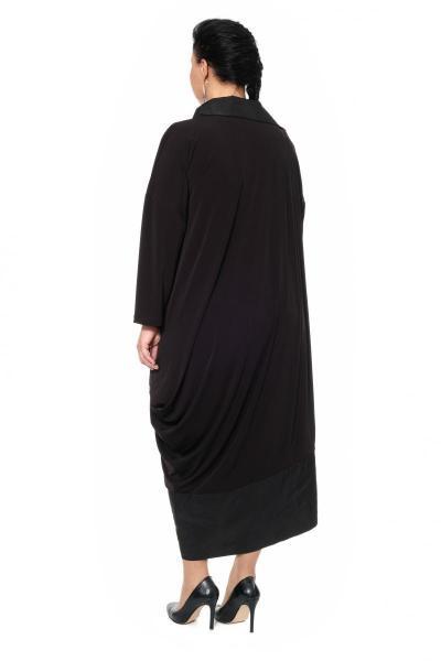 Артикул 430105 - платье с сорочкой большого размера - вид сзади