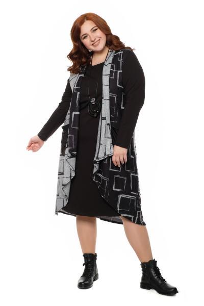 Арт. 602803 - Платье с жилетом
