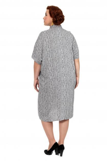 Артикул 303060 - платье -туника большого размера - вид сзади