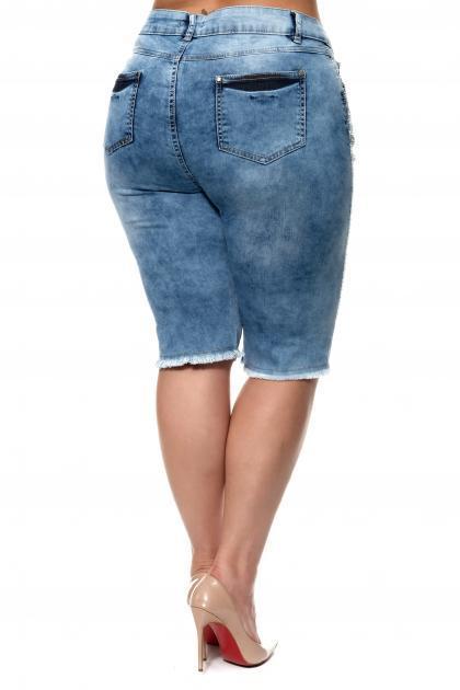 Артикул 304604 - шорты большого размера - вид сзади