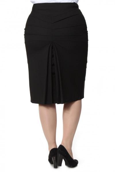 Артикул 14423 - юбка большого размера - вид сзади