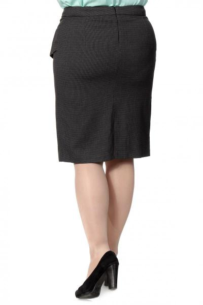 Артикул 14425 - юбка большого размера - вид сзади