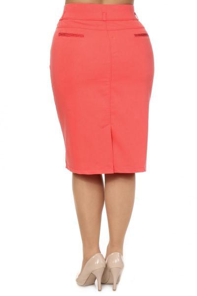 Артикул 305027 - юбка  большого размера - вид сзади
