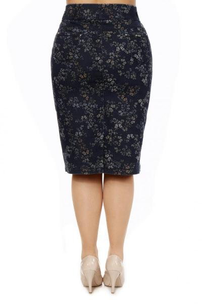 Артикул 305012 - юбка  большого размера - вид сзади