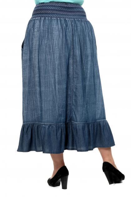 Артикул 350633 - юбка большого размера - вид сзади