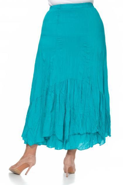 Артикул 302708 - юбка большого размера - вид сзади