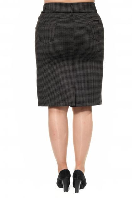 Артикул 301020 - юбка большого размера - вид сзади