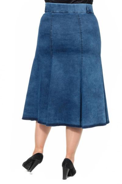 Артикул 301032 - юбка большого размера - вид сзади