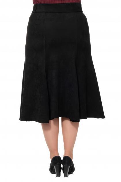 Артикул 301067 - юбка большого размера - вид сзади