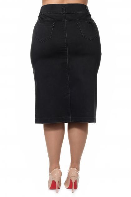 Артикул 305087 - юбка большого размера - вид сзади