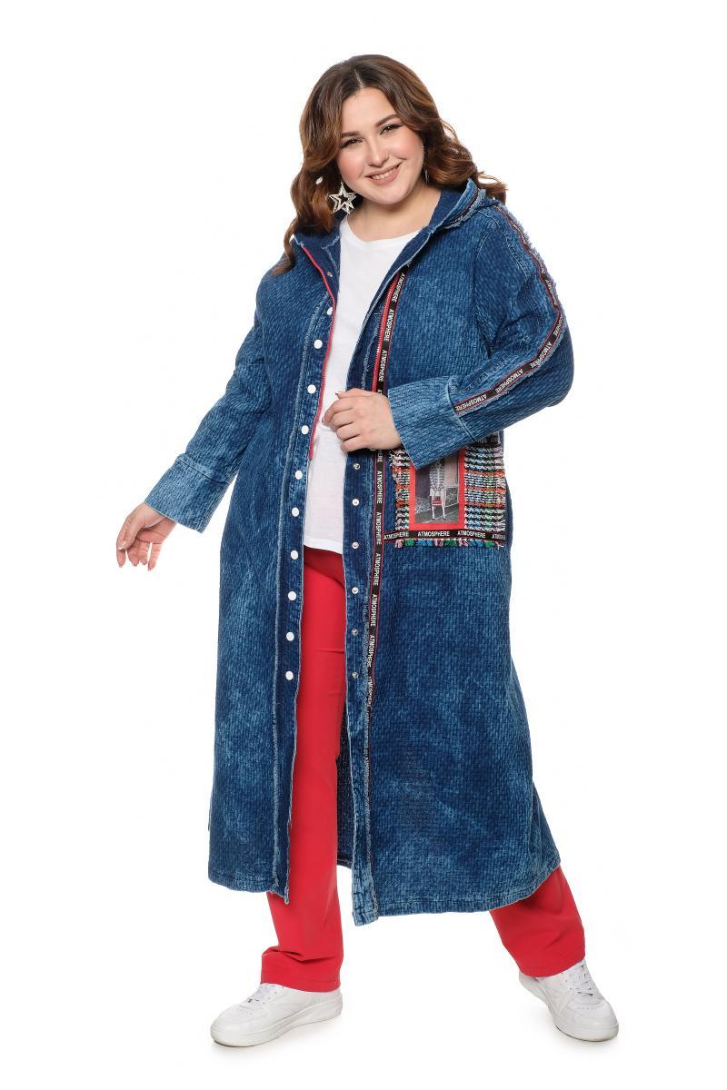 Артикул 700607 - джинсовый жакет большого размера