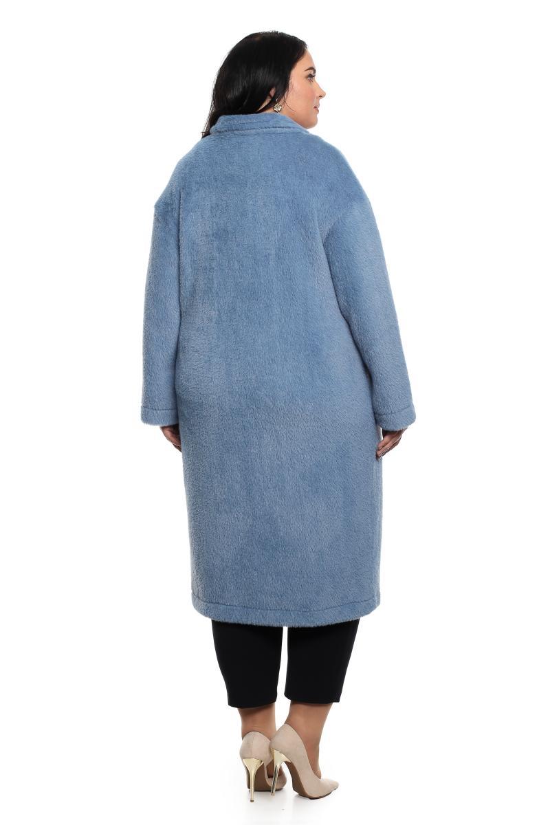 Пальто-кардиган, меховое