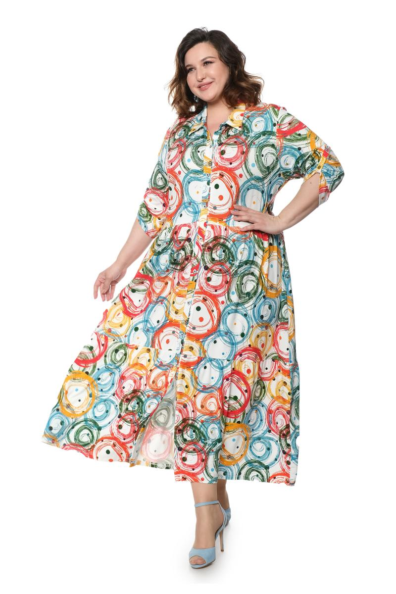 Артикул 808091 - платье-рубашка большого размера