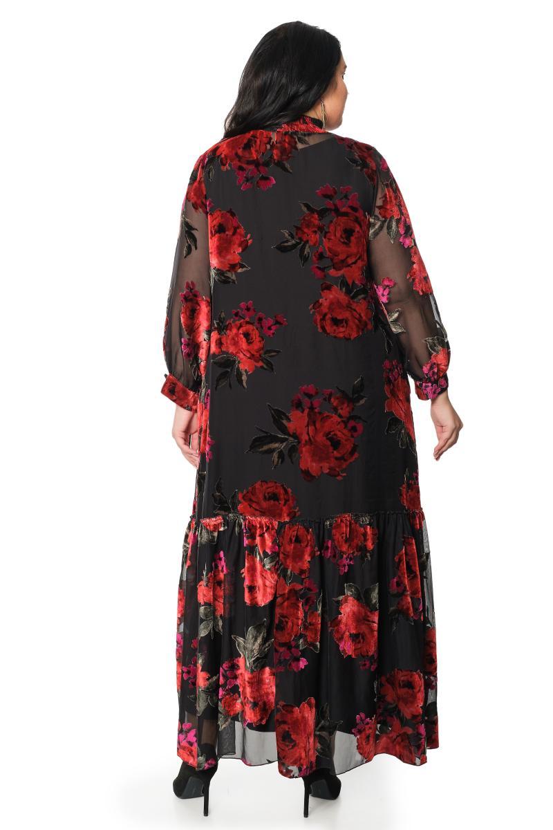 Платье с сорочкой и поясом