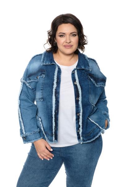 Артикул 704293 - джинсовая куртка большого размера