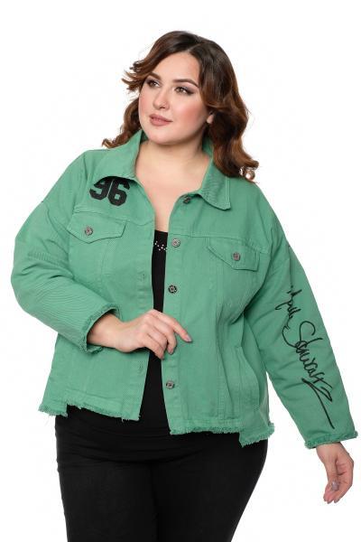 Артикул 704306 - джинсовая куртка большого размера