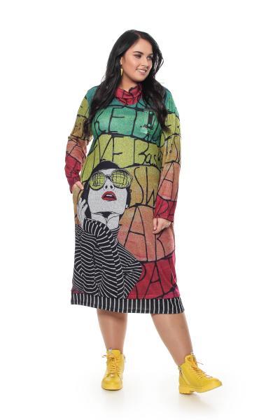 Артикул 706105 - платье большого размера