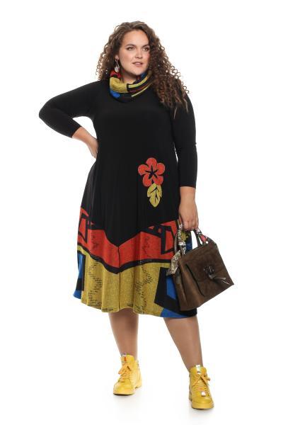 Арт. 701002 - Платье с шарфом