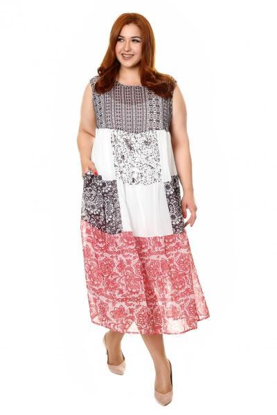 Артикул 418125 - платье с сорочкой большого размера