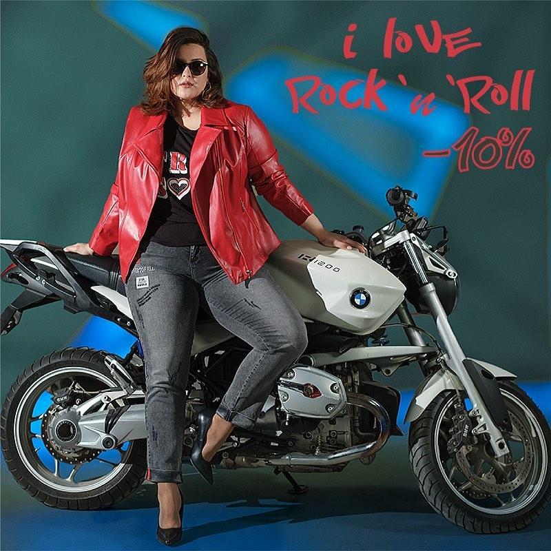 Подборка стильной одежды SIZE+ в стиле I love Rock`n`Roll на нашем сайте
